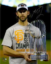 "Madison Bumgarner San Francisco Giants Autographed 16"" x 20"" 2014 World Series Celebration Photograph"