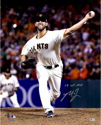 "Madison Bumgarner San Francisco Giants Autographed 16"" x 20"" 2014 World Series Photograph with 14 WS MVP Inscription"