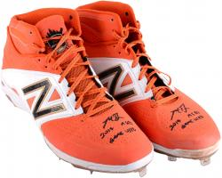 Madison Bumgarner San Francisco Giants Autographed 2014 All Star Game Used Cleats with 2014 ASG Game Used Inscription