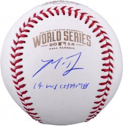 Madison Bumgarner San Francisco Giants Autographed 2014 World Series Baseball with 14 WS Champs Inscription