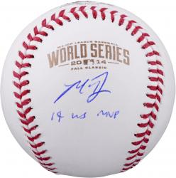 Madison Bumgarner San Francisco Giants Autographed 2014 World Series Baseball with 14 WS MVP Inscription
