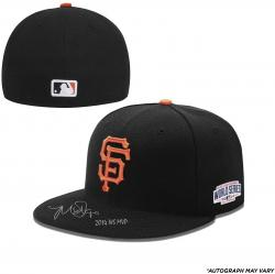 Madison Bumgarner San Francisco Giants Autographed 2014 World Series Black Cap with 14 WS MVP Inscription