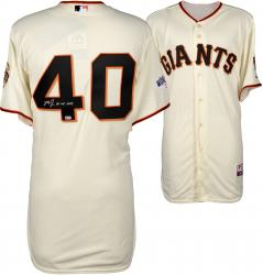 Madison Bumgarner San Francisco Giants Autographed 2014 World Series Home Jersey with 14 WS MVP Inscription