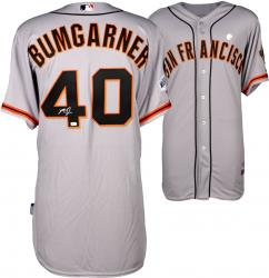 Madison Bumgarner Autographed 2014 World Series Road Jersey
