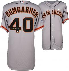 Madison Bumgarner San Francisco Giants Autographed 2014 World Series Road Jersey with 14 WS MVP Inscription