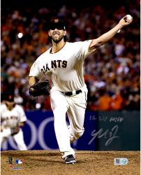 "Madison Bumgarner San Francisco Giants Autographed 8"" x 10"" 2014 World Series Photograph with 14 WS MVP Inscription"