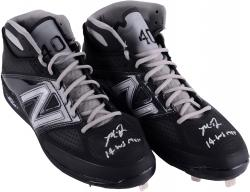 Madison Bumgarner San Francisco Giants Autographed Black and Gray Custom Game Issued Cleats with 14 WS MVP Inscription