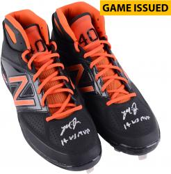 Madison Bumgarner San Francisco Giants Autographed Black and Orange Custom Game Issued Cleats with 14 WS MVP Inscription