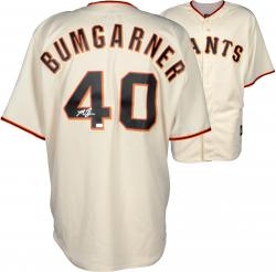 Madison Bumgarner San Francisco Giants Autographed Cream Replica Jersey
