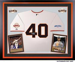 Madison Bumgarner San Francisco Giants Autographed Deluxe Framed 2014 World Series Home Jersey with 14 WS MVP Inscription
