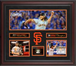 "Madison Bumgarner San Francisco Giants Framed 20"" x 24"" 2014 World Series MVP 3-Photo Collage"