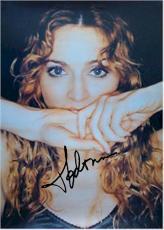 Madonna Autographed Facsimile Signed Biting Hands Poster