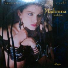 MADONNA Autographed Signed Borderline Single Album Certified Authentic AFTAL COA