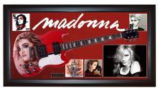 Madonna Autographed Signed Guitar + Display Shadowbox Case PSA AFTAL UACC RD
