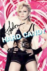 Madonna Autographed Facsimile Signed Hard Candy Poster