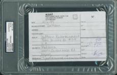 Madonna Ciccone Full Name Signed 4.25x6.5 Cut Autograph Psa Slabbed