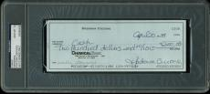 Madonna Ciccone Signed 3x8.25 1984 Handwritten Check w/ Gem 10 Auto! PSA Slabbed