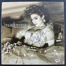 Madonna Signed 'Like A Virgin' Album Cover PSA/DNA #AB04445