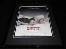 Madonna Truth or Dare 1991 Framed 11x14 ORIGINAL Vintage Advertisement