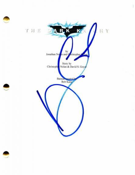 Maggie Gyllenhaal Signed Autograph - The Dark Knight Movie Script Christian Bale