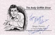 """MAGGIE PETERSON """"THE ANDY GRIFFITH SHOW"""" as CHARLENE DARLING Signed 8.5 x 5.5 Promo Sheet"""