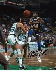 "Los Angeles Lakers Magic Johnson Autographed 8"" x 10"" Photo - Mounted Memories"