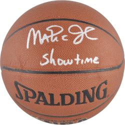 Los Angeles Lakers Magic Johnson Autographed Basketball - - Mounted Memories