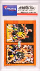 Magic Johnson/Larry Bird Los Angeles Lakers/Boston Celtics Autographed 1994 SkyBox #MB1 Card