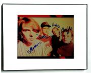 Magnapop Autographed x4 Signed Framed Sepia Tone Photo UACC RD AFTAL
