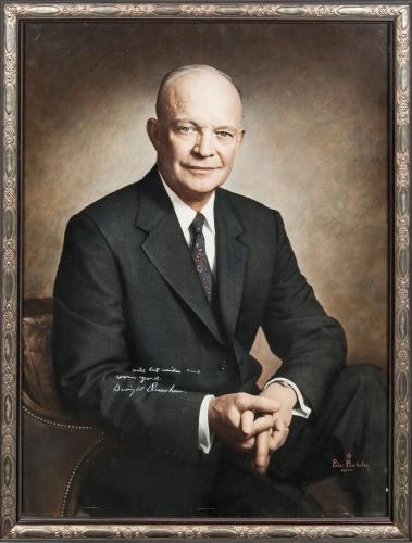 Magnificent President Dwight D Eisenhower Signed Museum Quality Portrait PSA DNA