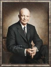 Magnificent President Dwight D Eisenhower Signed Museum Quality Portrait PSA DNA