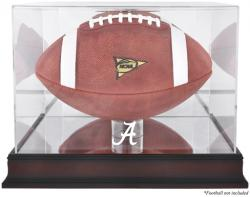 Alabama Crimson Tide Mahogany Base Football Display Case with Mirror Back - Mounted Memories