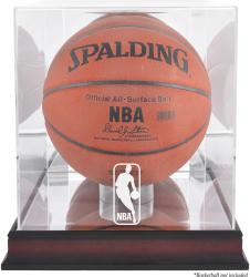 NBA Logo Mahogany Basketball Display Case - Mounted Memories