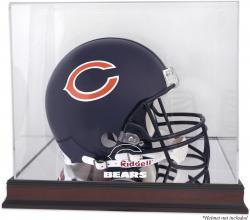 Chicago Bears Mahogany Helmet Logo Display Case with Mirror Back