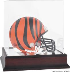Cincinnati Bengals Mahogany Logo Mini Helmet Display Case - Mounted Memories