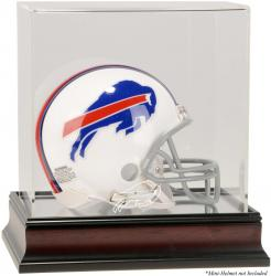 Buffalo Bills Mahogany Logo Mini Helmet Display Case