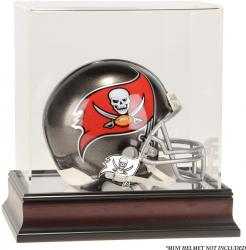 Tampa Bay Buccaneers Mahogany Logo Mini Helmet Display Case