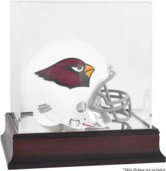 Arizona Cardinals Mahogany Logo Mini Helmet Display Case - Mounted Memories