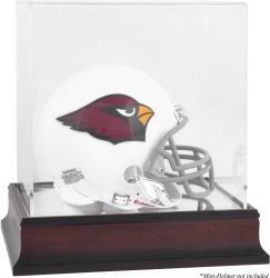 Arizona Cardinals Mahogany Logo Mini Helmet Display Case