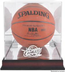 Cleveland Cavaliers Mahogany Team Logo Basketball Display Case with Mirrored Back
