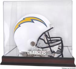 San Diego Chargers Mahogany Helmet Logo Display Case with Mirror Back