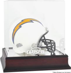 San Diego Chargers Mahogany Logo Mini Helmet Display Case