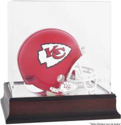 Kansas City Chiefs Mahogany Logo Mini Helmet Display Case - Mounted Memories