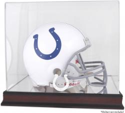Indianapolis Colts Mahogany Helmet Logo Display Case with Mirror Back