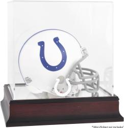 Indianapolis Colts Mahogany Logo Mini Helmet Display Case
