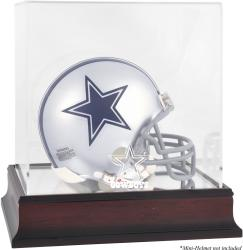 Dallas Cowboys Mahogany Logo Mini Helmet Display Case