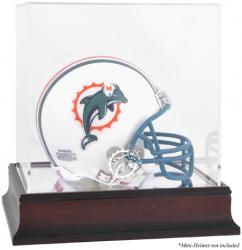 Miami Dolphins Mahogany Logo Mini Helmet Display Case