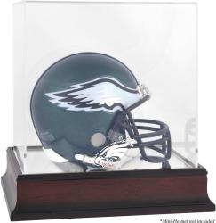 Philadelphia Eagles Mahogany Logo Mini Helmet Display Case - Mounted Memories