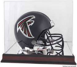 Atlanta Falcons Mahogany Helmet Logo Display Case with Mirror Back