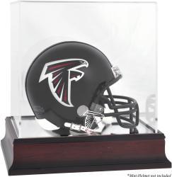 Atlanta Falcons Mahogany Logo Mini Helmet Display Case
